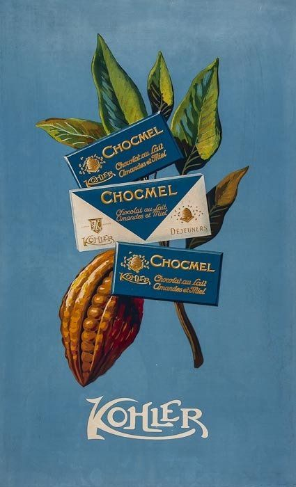 ANONYMOUS KOHLER CHOCOLATE lithograph in colours, 38 x 23ins. (97 x 58cm.)