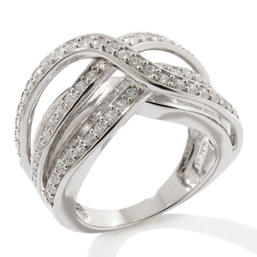 Victoria Wieck 2 52ct Absolute Triple Overlay Bridge Band Ring So Pretty And Flexpay Makes It Even Better J Sterling Silver Rings Bands Jewelry Band Rings