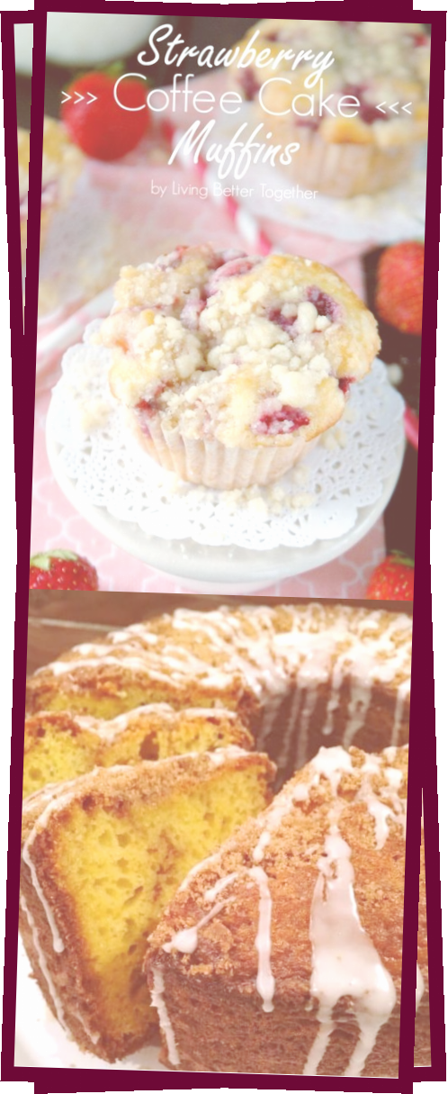 Photo of Strawberry Coffee Cake Muffins Recipe  Sugar And Soul