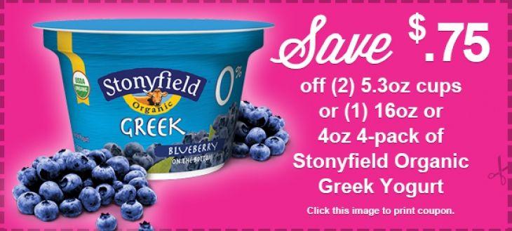Save $.75 off Stonyfield Organic Greek Yogurt | Earthbound ...