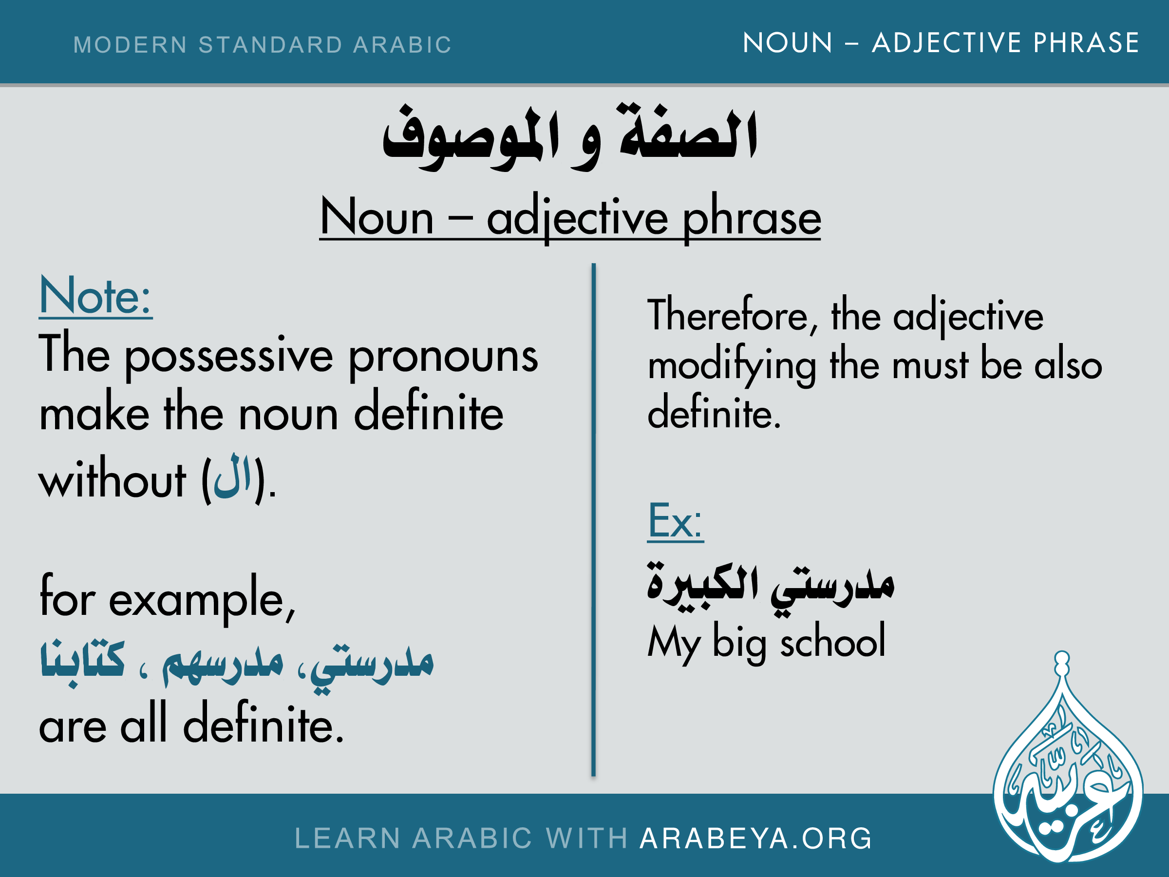 Noun Adjective Phrase Notes Noun Adjective Phrase Msa In 2018