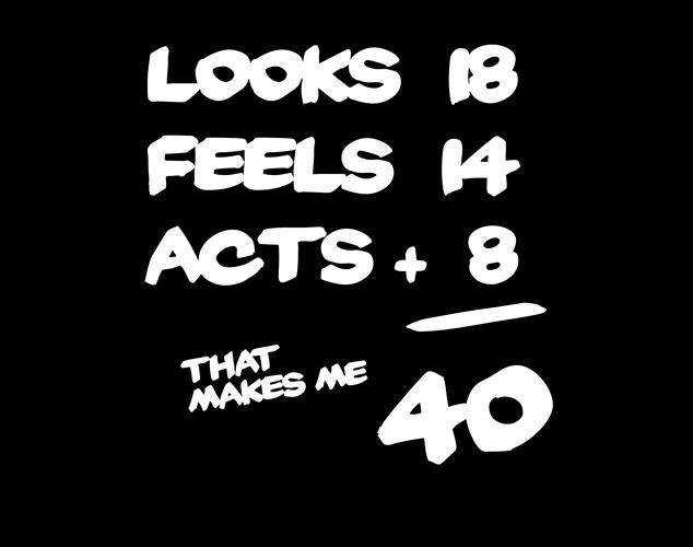 40th birthday logo on american apparel unisex mens womens