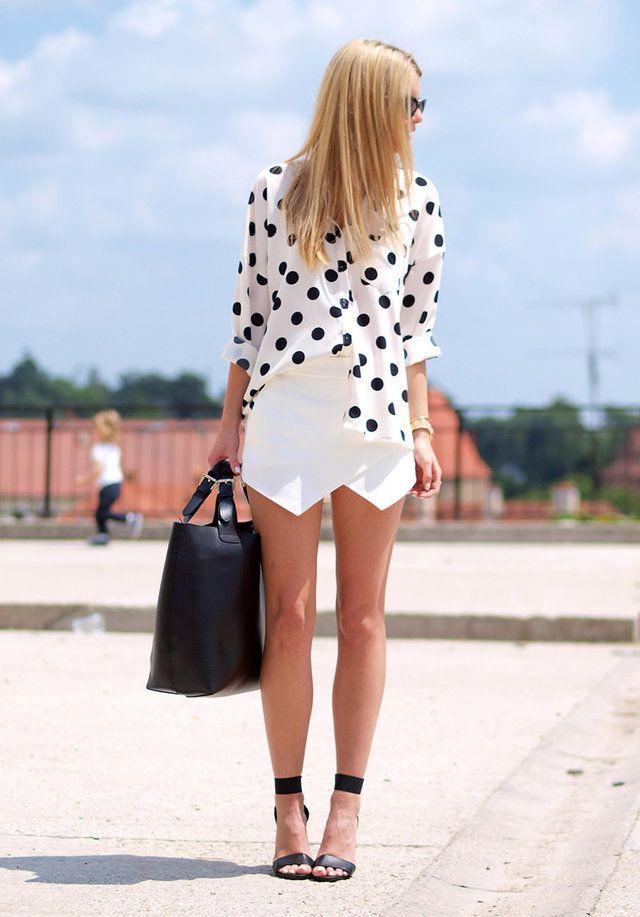Nowistyle  Camisas, Zara  Pantalones cortos and Sheinside  Bolsos
