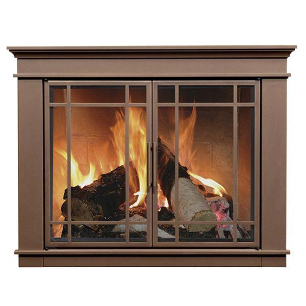Hamilton Fireplace Glass Door Bronze Woodlanddirect