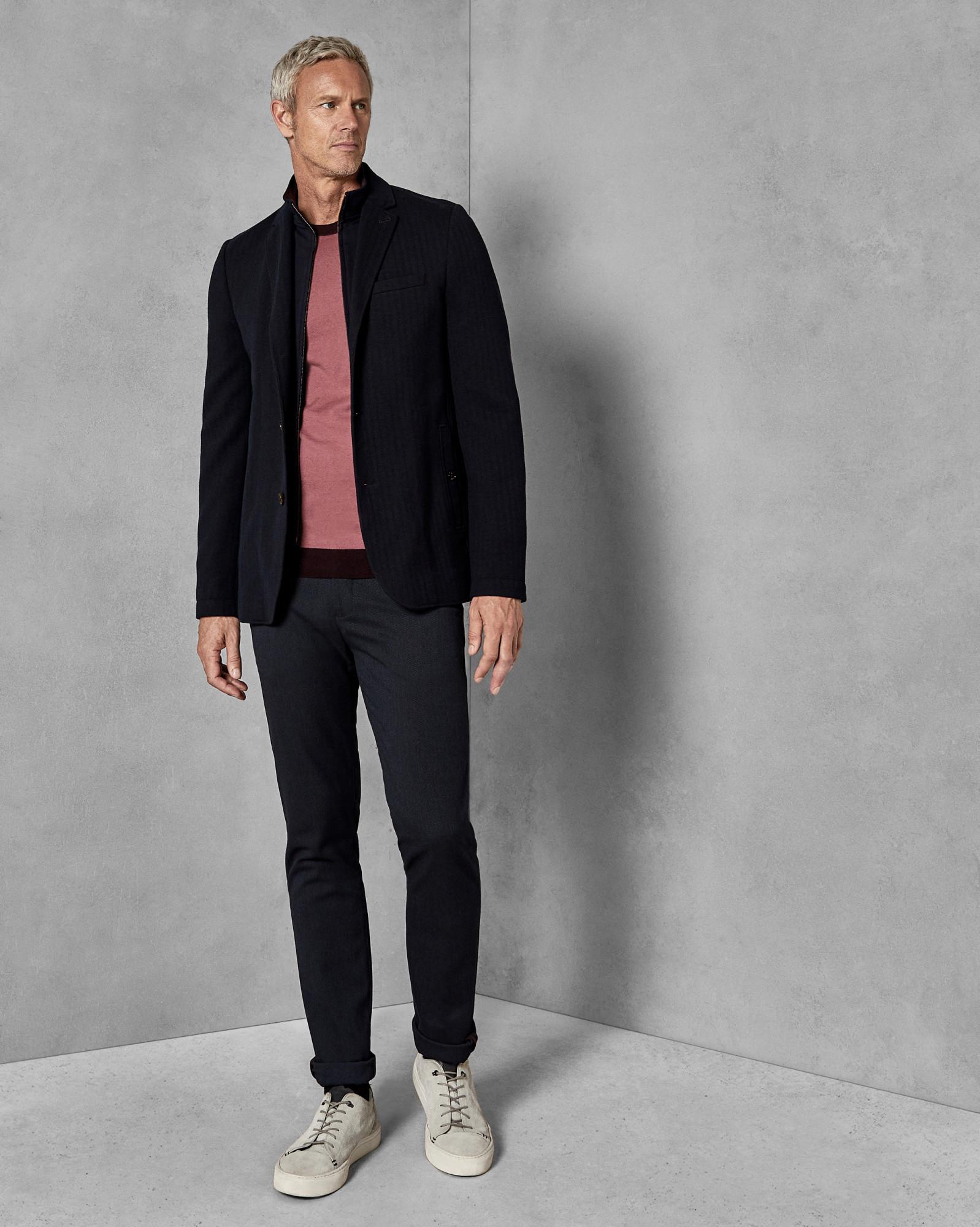 8a6a739fb88cd2 2-in-1 Herringbone Jersey Jacket