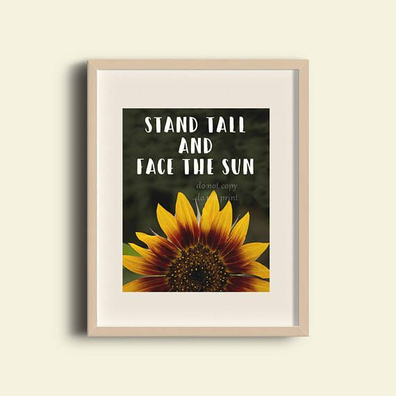 Sunflower Decor Living Room Wall Art Office Wall Art Girl S Room Decor Quote Print Sunflower Q Sunflower Wall Decor Girls Room Wall Art Sunflower Wall Art #sunflower #theme #living #room