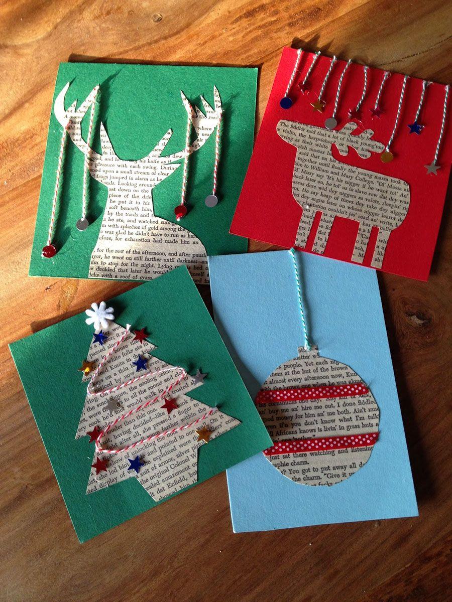 Ideas para decorar postales de navidad xmas - Como hacer tarjetas de navidad faciles ...