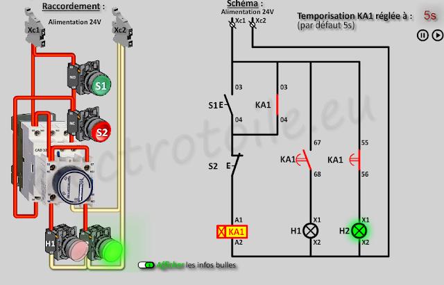 Les Temporisations De Type Travail Et Repos Com Imagens Comandos Eletricos Projetos Eletricos Esquemas Eletronicos