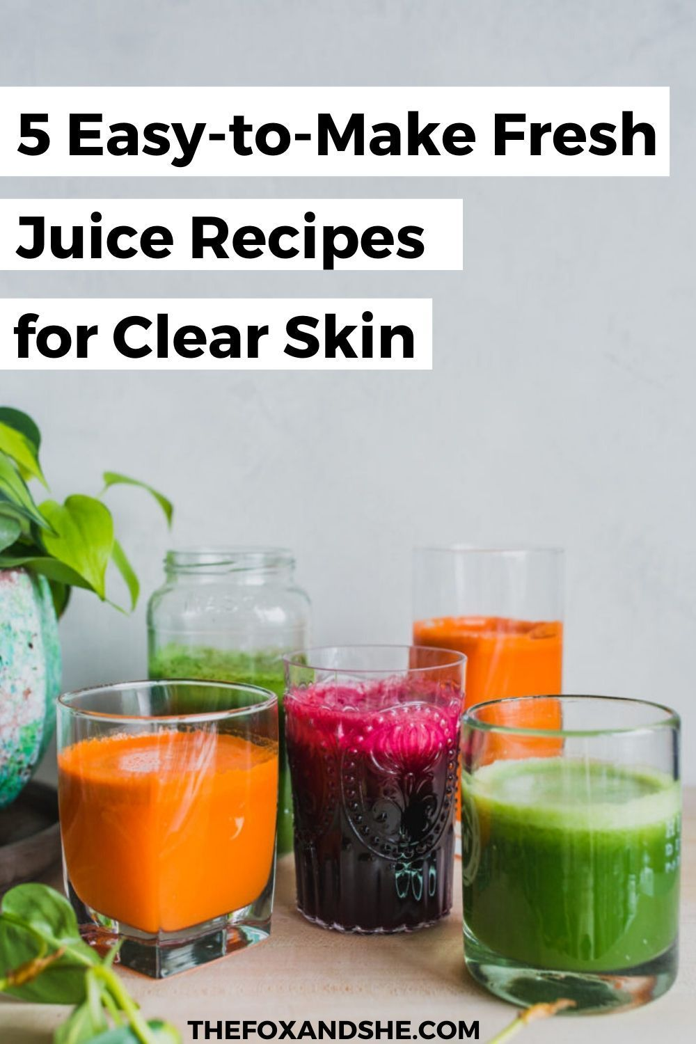 Looking for juice recipes for beginners? These juices recipes for skin are amazing skin detox drinks and will boost your healthy living. I love a good healthy green juice recipe for the morning because it gives me energy. Click to see all the juice recipes for energy and clear skin and add this to your wellness inspiration. #greenjuice #healthyliving #clearskin