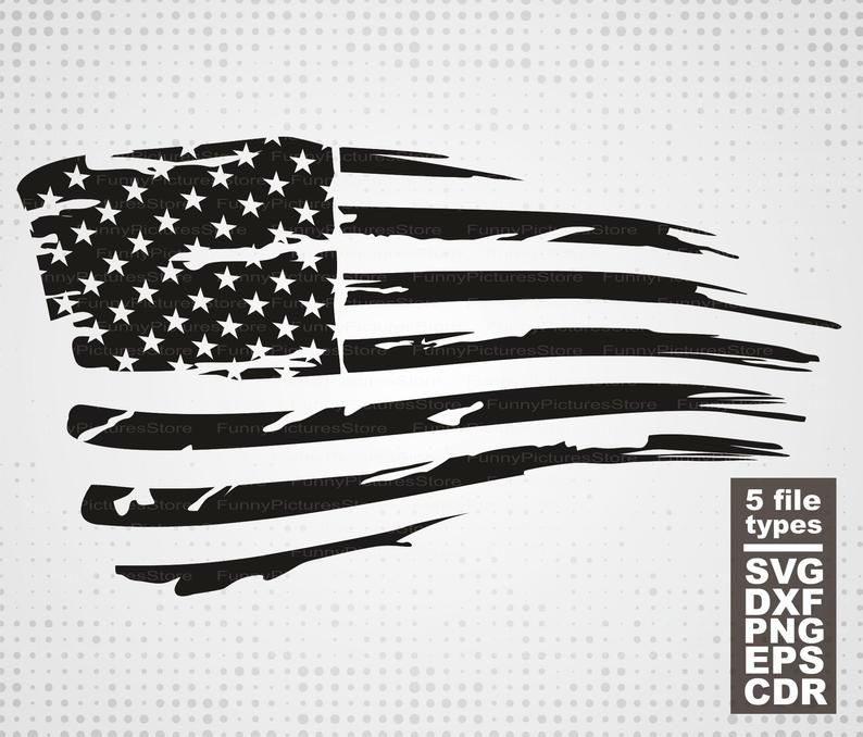 """US FLAG CUT-OUT 6/"""" STICKER 1 Piece NEW Made in USA Outdoor Vinyl Decal"""