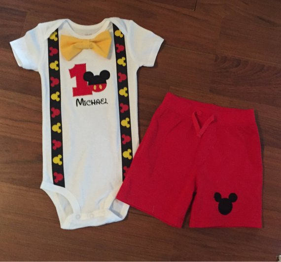 Mickey Mouse 1st Birthday Outfit.Mickey Mouse 1st Birthday Boy Shorts Products 1st Boy
