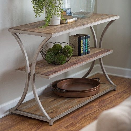 Belham Living Franklin Reclaimed Wood Industrial Coffee Table: Belham Living Edison Reclaimed Wood Console Table