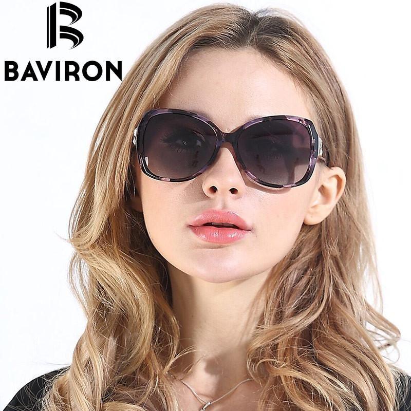 f5381e0a9d9 BAVIRON City Eye Tortoise Sunglasses Women Polarized Lenses Glasses Retro  Sunglasses Style Gradient Colors Rays UV400 Oculos