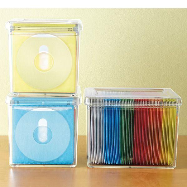 The Container Store u003e 120-Disc Acrylic Storage Box  sc 1 st  Pinterest & 120-Disc Rainbow Acrylic Storage Box | | organize | | Pinterest ...