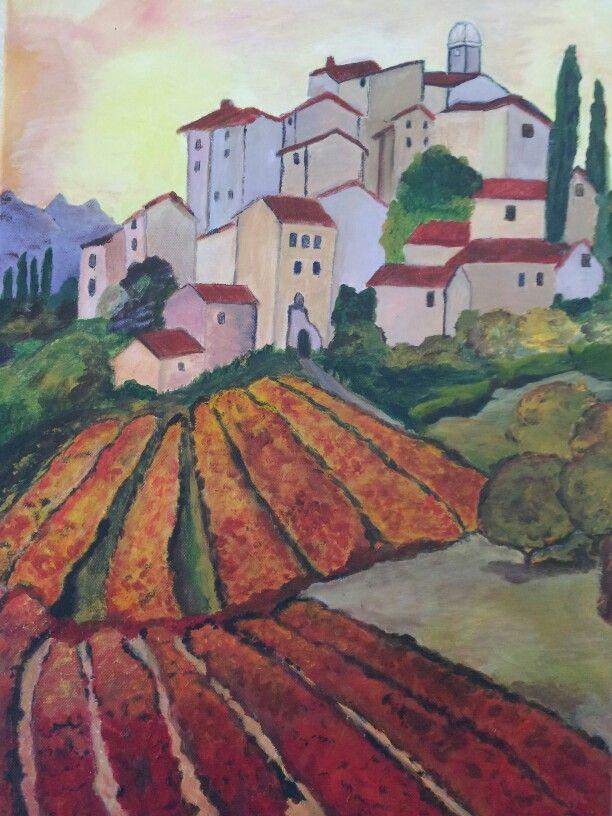 Dorp in zuid Frankrijk . Gemaakt door Martha