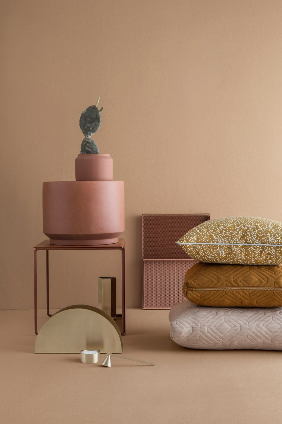 ferm living's furniture collection includes perforated shelves  - ferm living spring summer  collection