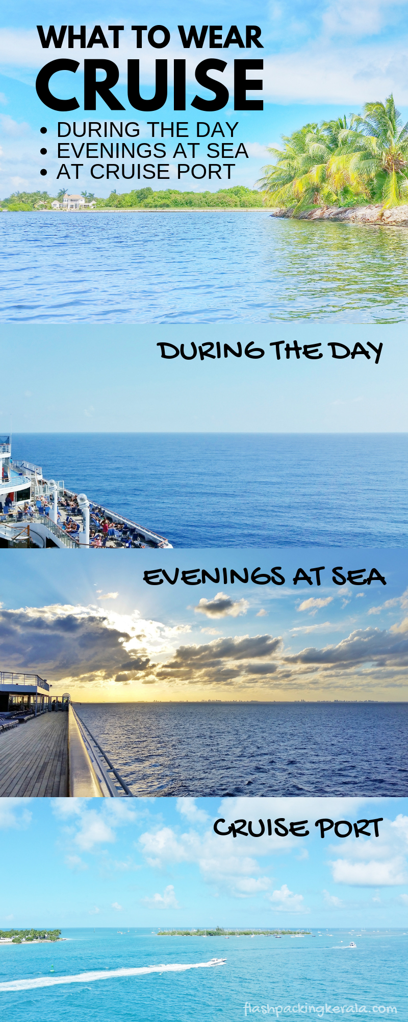 What to wear on a cruise :: What to pack for Caribbean cruises | Flashpacking Kerala