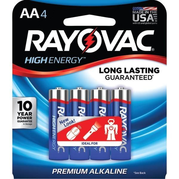 Now Available From Bargains Delivered Rayovac 815 4j Aa At Http Www Bargainsdelivered Com Products Rayovac 815 4j Alkaline Battery Alkaline High Energy