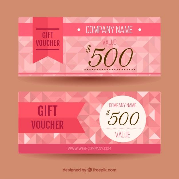 Polygonal pink discount coupons Free Vector Sakura Pinterest - free discount vouchers