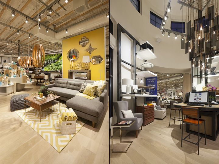 used west elm furniture. A Loft Area At The Center Of Store Is Used For Special Retail Displays. Interior Rotunda Houses Design Lab, An Interactive Space Where West Elm Furniture I