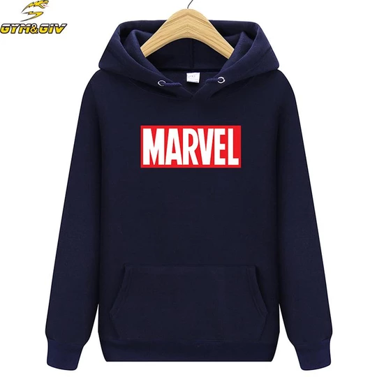 Photo of Hot 2018 Autumn And Winter Brand Sweatshirts Men High Quality MARVEL letter printing fashion mens hoodies