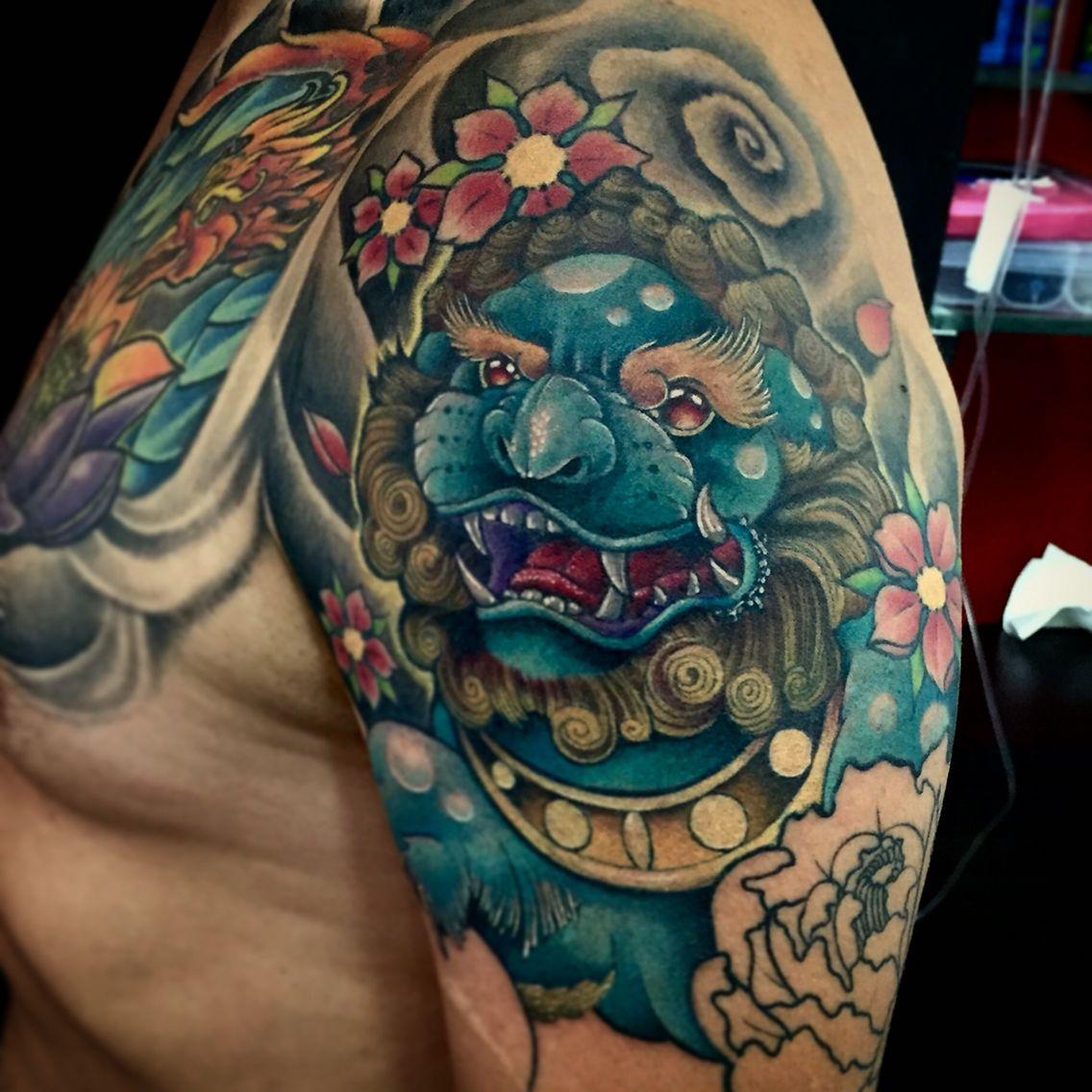 Fudog neotraditional Tattoo By Juan David Castro R Foo