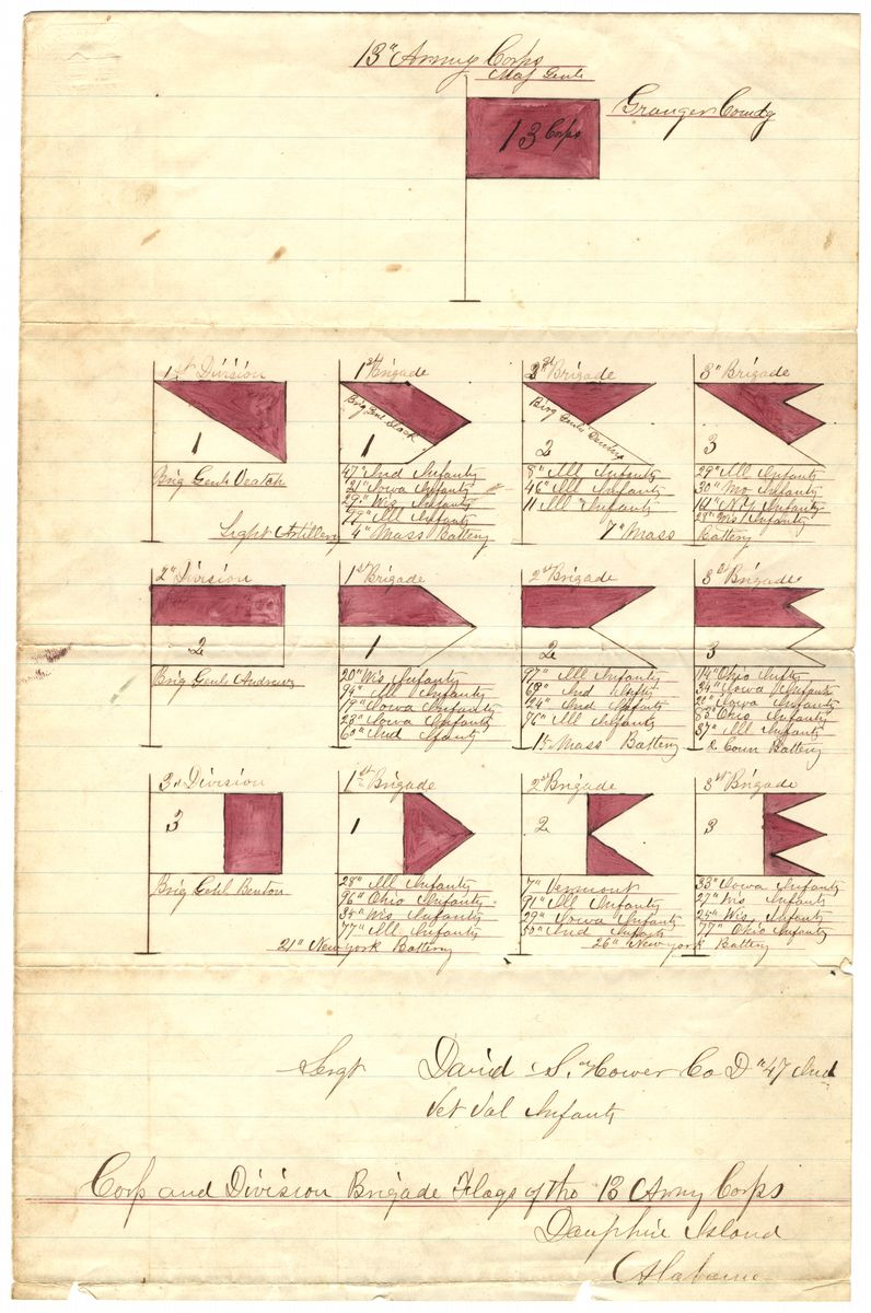 Corps And Division Brigade Flags Of The 13th Army Corps The Lincoln Financial Foundation Collection Army Corps Lincoln Financial Flag