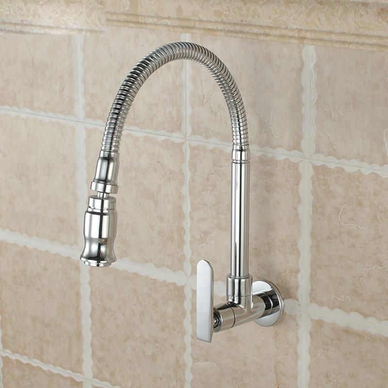 Free Shipping Chrome Single Handle Kitchen Faucet Cold Water Faucet ...