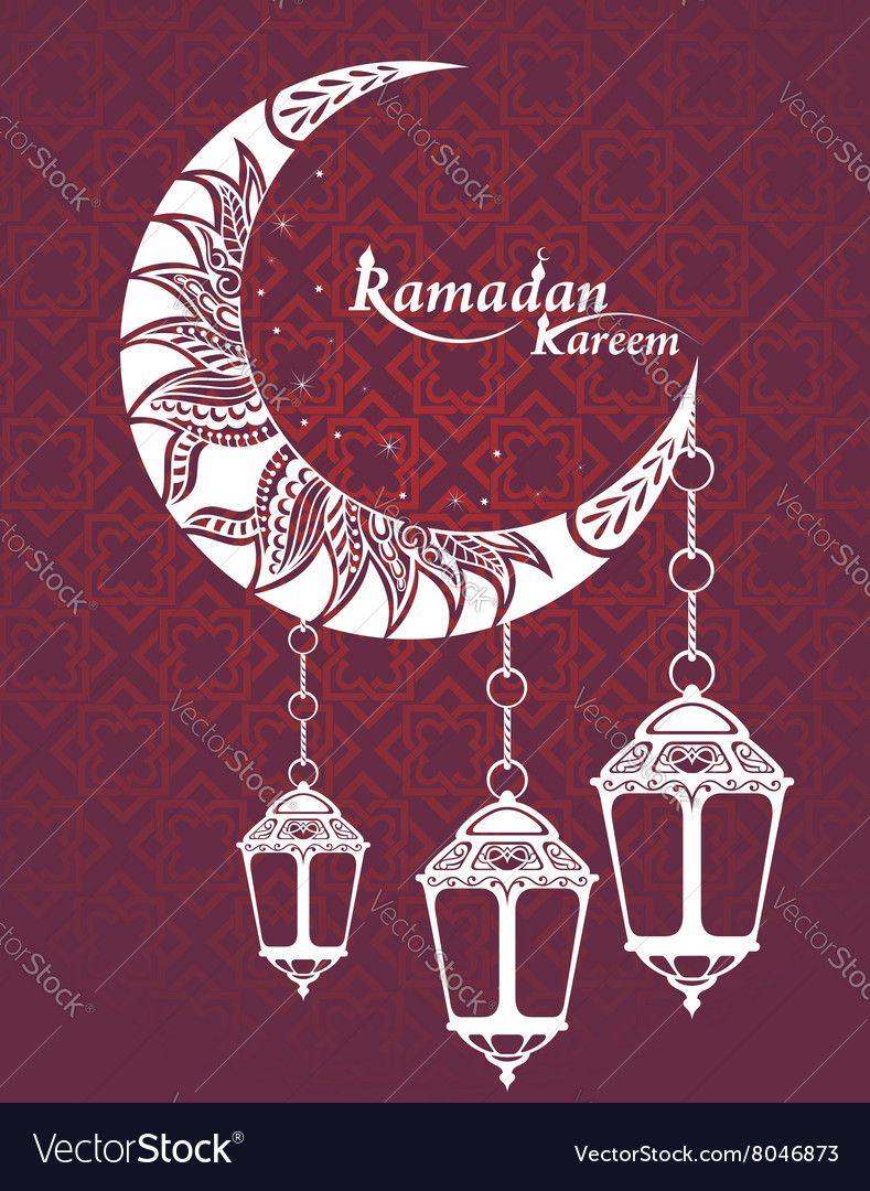 Arabic Ramadan Kareem Vector Image On Vectorstock Ramadan Kareem Vector Ramadan Kareem Ramadan