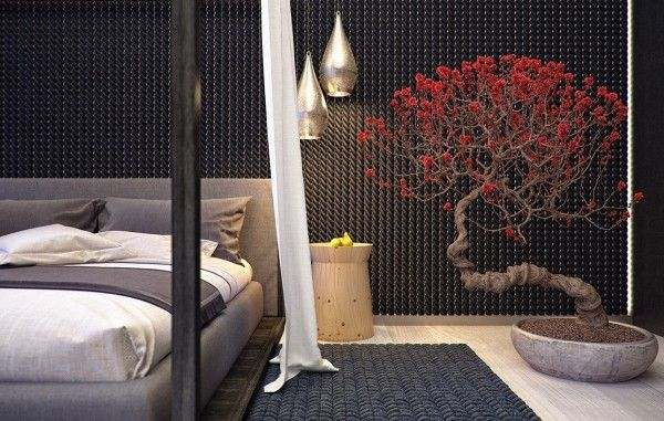 Modern interior decorating with bonsai plant #bonsaiplants