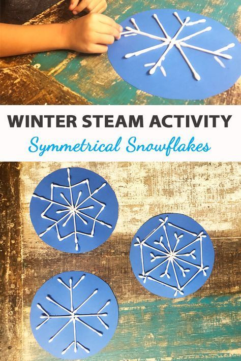 Winter STEAM: Symmetrische Schneeflocken - Green Kid Crafts -  Winter STEAM: Symmetrische Schneeflocken – Green Kid Crafts  - #crafts #craftstodowhenbored #green #holidaycrafts #Kid #schneeflocken #steam #symmetrische #winter #wintercrafts #yarncrafts #snowdayactivitiesforkids