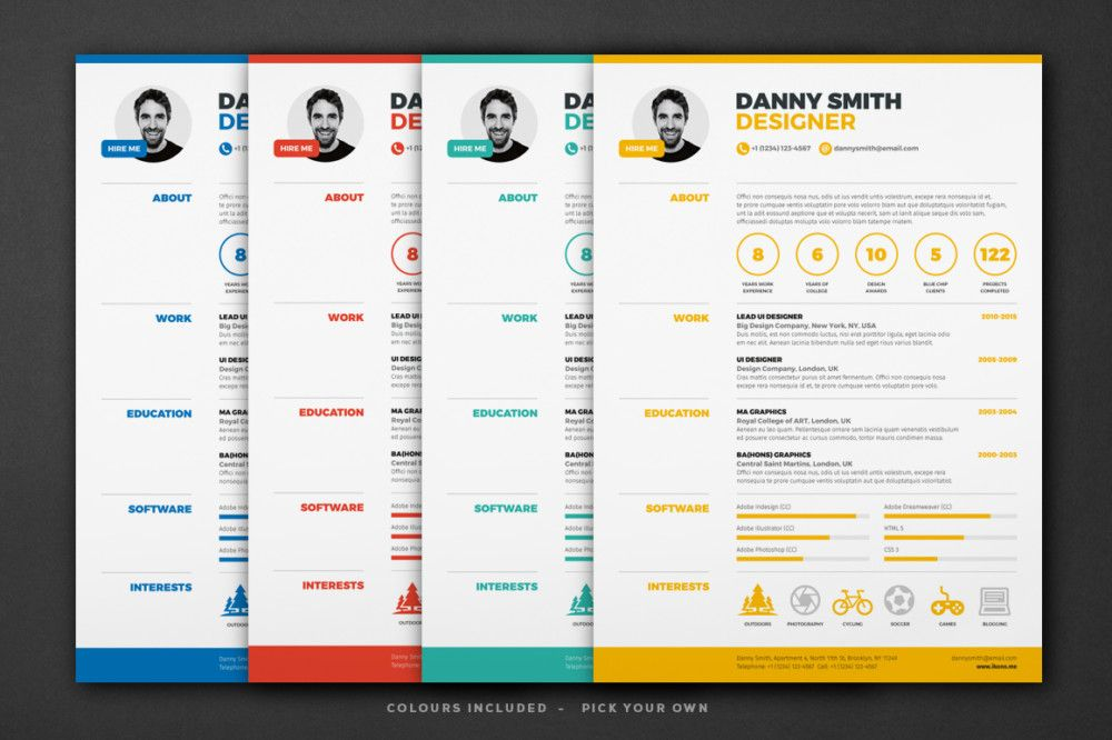 One Page Resume Template Free Word Excel Format Within Standard