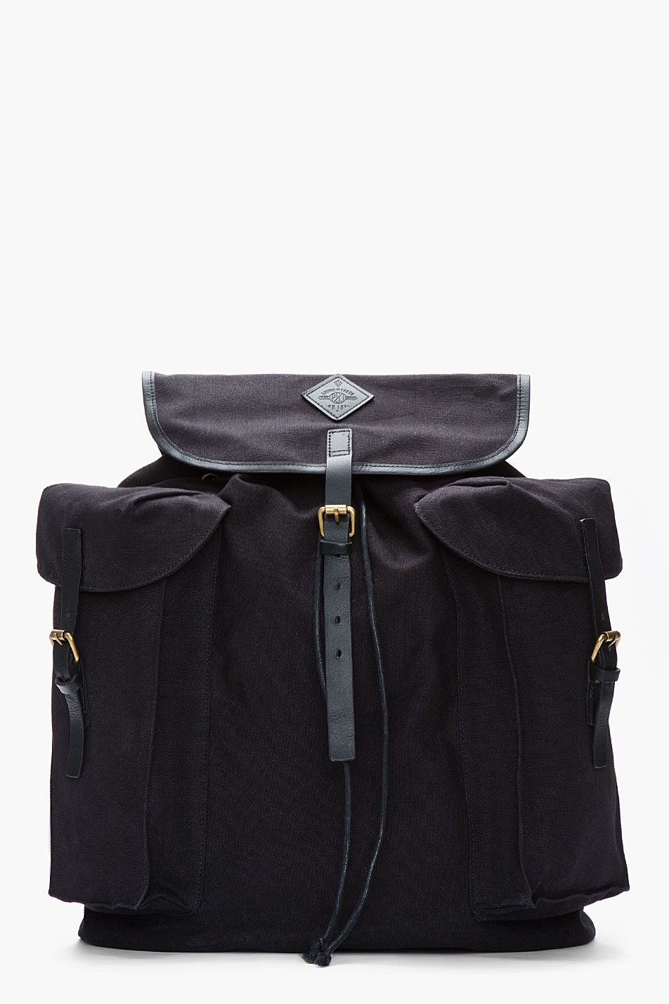 cec78b3254bb4 PAUL SMITH JEANS Oversize Black Canvas Neon-Trimmed Backpack ...