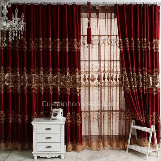 Burgundy Curtains For Living Room Lanzhome Com In 2020 Fancy