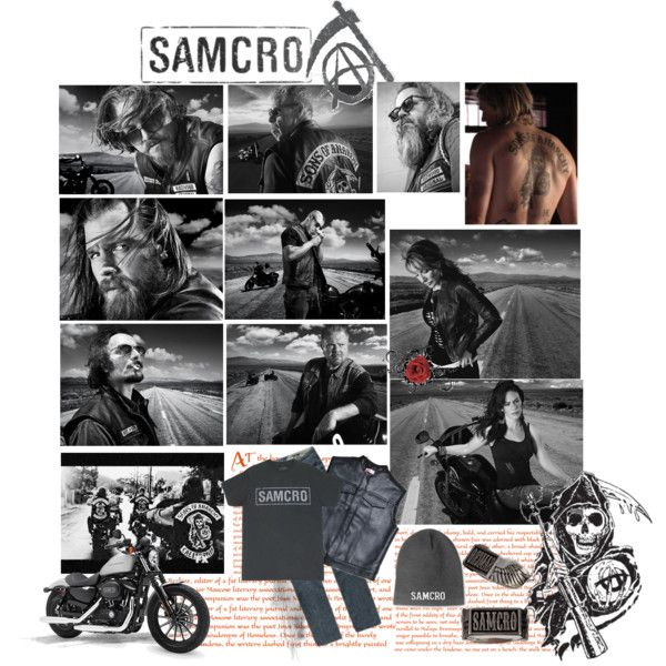 SAmcro by shainalrp on Polyvore featuring SOA, Volcom and Harley-Davidson