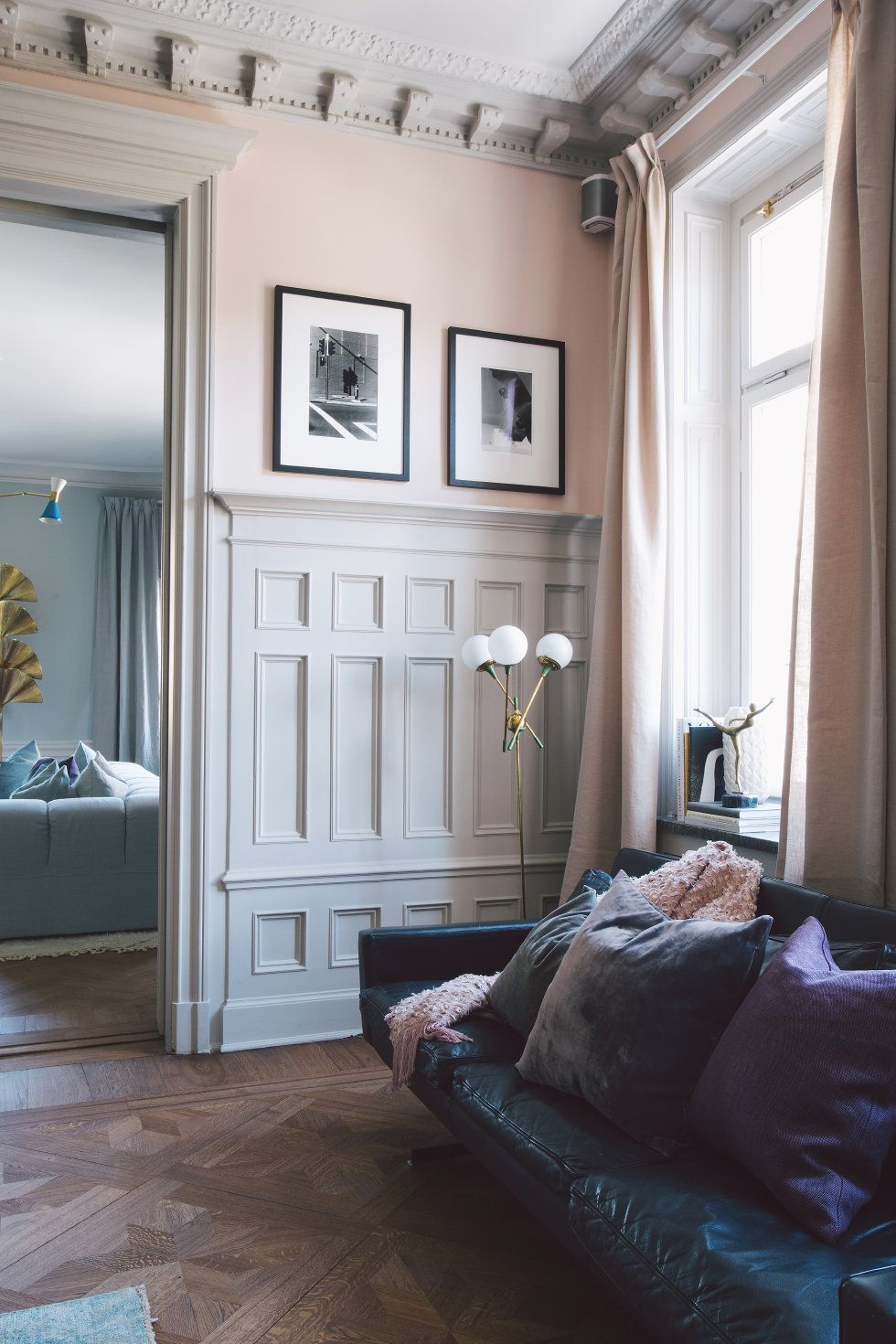 Gorgeous Moldings And Soft Blush Walls