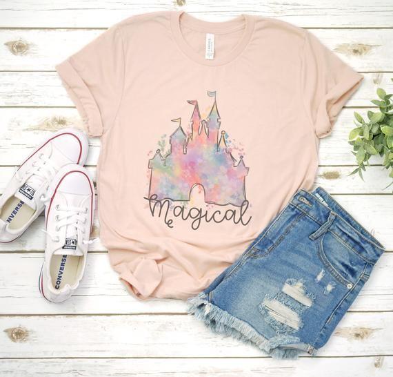 Disney / Magical / Cinderella / Castle / Disney World / Disneyland / Mickey / Minnie / T-Shirt / T Shirt / Tee Shirt / Sublimation