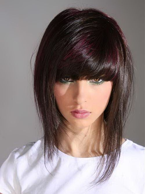 cool medium style haircuts girls | Medium Style Haircuts with ...