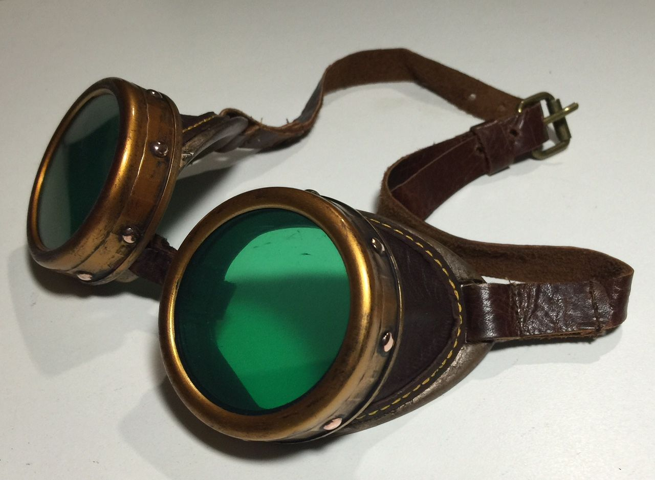 177c2cd87b DIY Tutorial on how to upcycle a cheap pair of plastic costume store goggles  to make a fantastic pair of Steampunk Goggles!