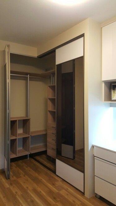 L Shape Pole System Wardrobe Cupboard Door Design Wadrobe Design Wardrobe Design
