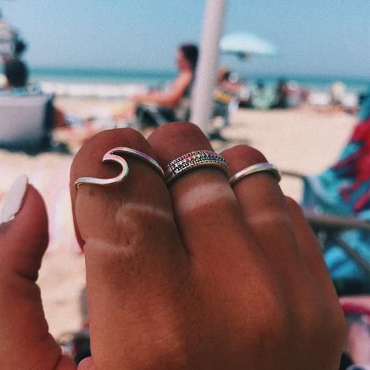 Avisa Simple Surf Wave Beach Ocean Ring is part of Summer vibes -  Gold Tone Alloy  Ring Size 6, 7, 8, 9, 10