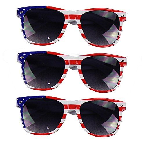 09720445ade UB Eyewear USA American Flag Patriotic Sunglasses Stripes 3 Pack -- To view  further for this item