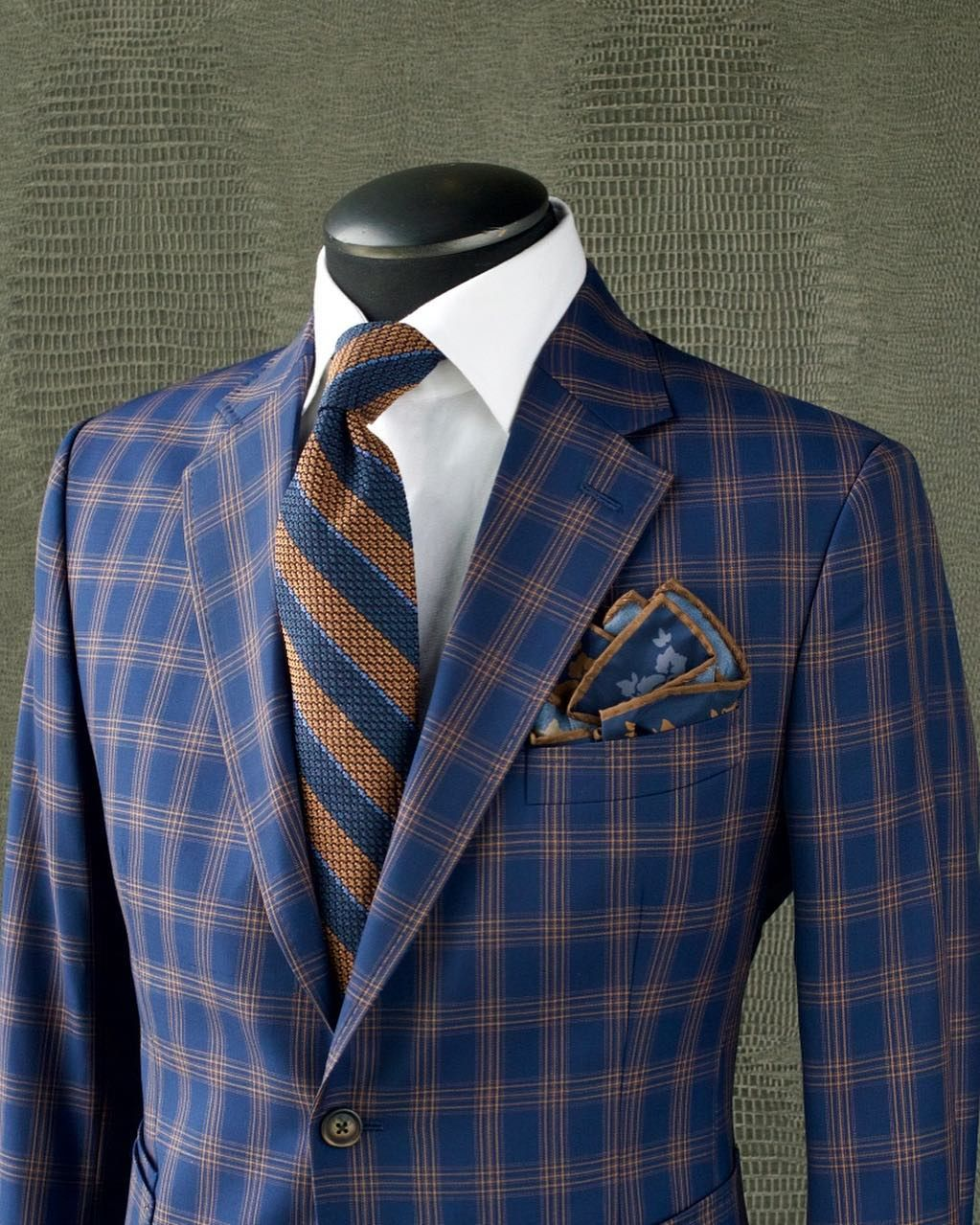 31532757e9060 CREEK CHECK Take a look at this fantastic KING & BAY Royal Blue & Creek  Brown Check Sport Jacket. With its eye catching & contrasting…