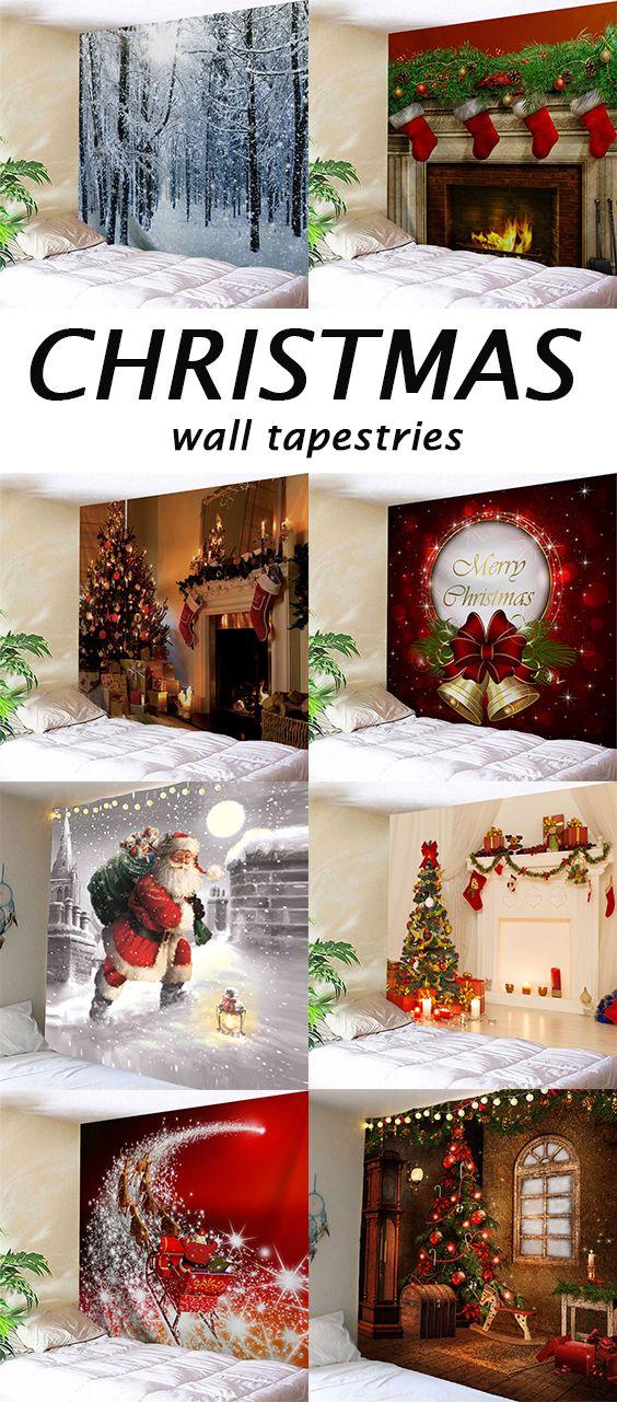 50 Off Christmas Wall Tapestries Chic Christmas Decor Christmas Diy Christmas Fun