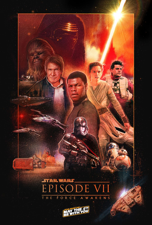 Star Wars Episode 7 The Force Awakens Poster Jpg 1013 1500 Star Wars Movies Posters Star Wars Vii Star Wars Illustration