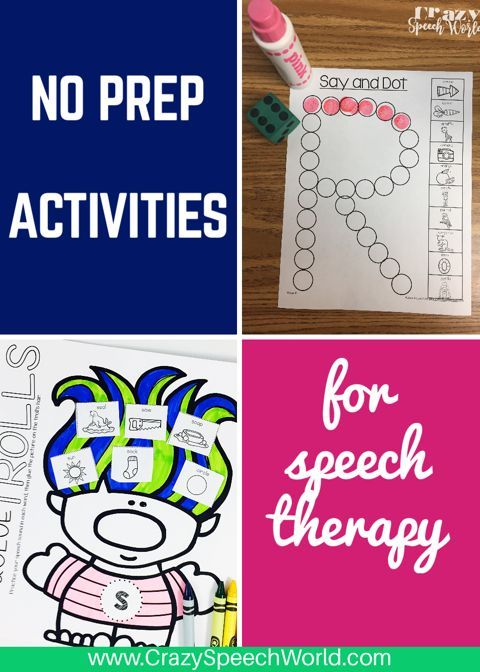 No prep Articulation activities for speech and language therapy ...