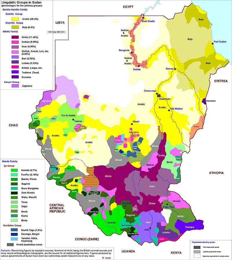Languages Spoken in Sudan. Bari, Kakwa, Keliko, and Moru Mangmetu ...