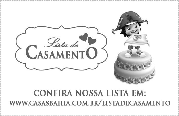 Mini Cartões Lux para Lista de Casamento Casas Bahia Prata