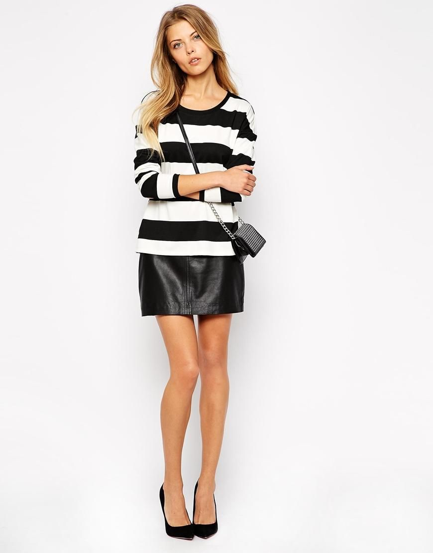 Vila | Vila Stripe Long Sleeve Top at ASOS