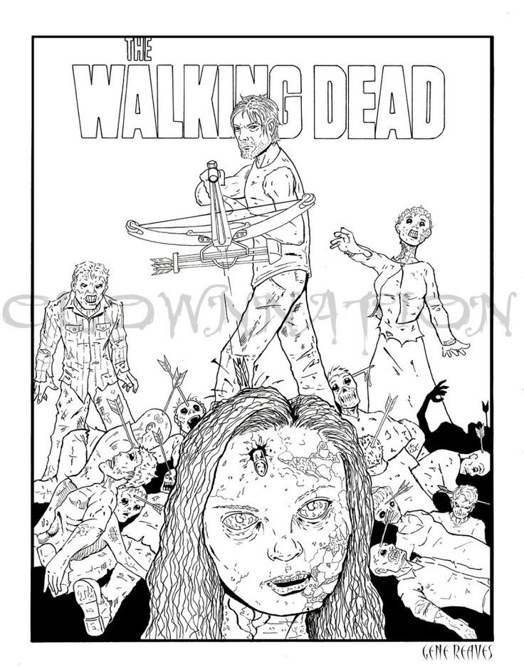 Pin de Cathy Simms en WALKING DEAD COLORING BOOK | Pinterest